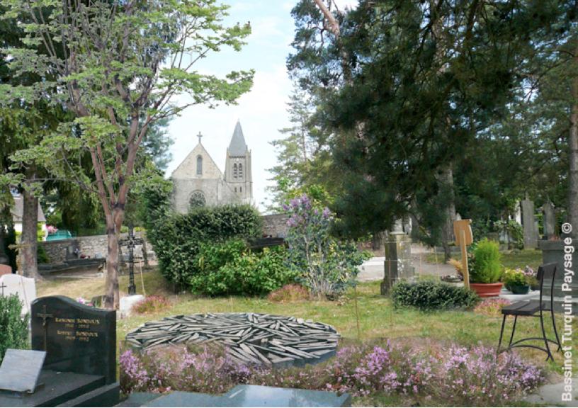 Openfield revue ouverte sur le paysage entre les tombes - Dispersion des cendres jardin du souvenir ...