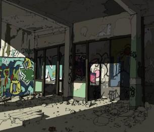 Par Nicolas Vanpoucke  Estampes numériques associant dessin de croquis sur place et colorisation numérique