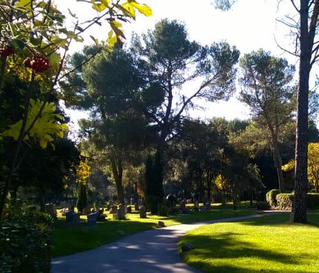 Les cimetières dans la ville